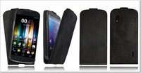 Handmade Genuine Real 100% Leather Flip Case Cover for Google LG NEXUS 4 Black nexus 4 case