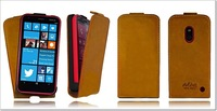 Brown Genuine Real 100% Leather Case Cover Skin for nokia lumia 620 leather case / Handmade