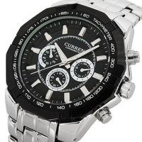 FREE SHIPPING High Quality watch man  CURREN Men's Analog Calendar men's full steel watch Case Stainless Steel Strap ,Hot sale