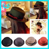 2013 free shipping high quality Women's bowler hats100% wool Winter felt hat Ladies travel caps warm cowboy hat  Fedoras hat