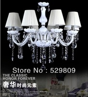 Free shipping E14*8 White color contemporary chandeliers pendants Chandelier crystal D700*H1000mm(include pendant chain 400mm)