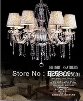 Free shipping E14*10 Clear color contemporary chandeliers pendants Chandelier crystal D700*H1000mm(include pendant chain 400mm)