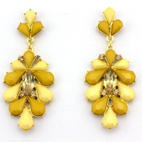 2013 Floating Glamor Fashion Resin Cameo Water drop Rhinestone tear Drop statement  Earrings Min order 10$ Free Shipping
