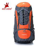Brand Quality Professional Mountaineering backpack 70L,Professional design carrying system,with rain cover,Men's and women's bag