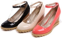 2013 Newest C Brand Designer Round Toe Pu Leather Women Casual Flats Shoes Beige Black Pink 34-39