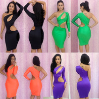 5 Colors 2013 New Arrival Fashion Sexy Slim Hip Bandage Dress Women's Casual Dresses For Autumn -Summer Bodycon Dresses One Size