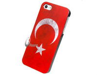 Free Shipping Turkish Flag Print Matte Plastic Case for iPhone 5      LIP-3439D