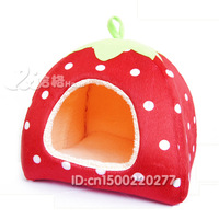 Free shipping Ultralarge Unpick And Wash Pet Kennel, bright color Strawberry cute dog/cat bed,dog house,pet products