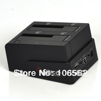 free shipping ORICO 6628SUSC USB2.0+eSATA to Dual 2.5/3.5in SATA Hard Drive Docking Station black \ white, not include HDD