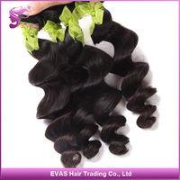 EVAS Hair Products 6A Brazilian Virgin Loose Wave Hair Weave 4pcs lot Unprocessed Brazilian loose wave hair wavy Free Shipping
