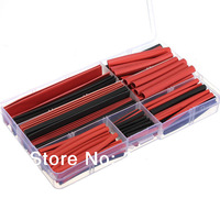 150pcs 2 Color 2:1 Polyolefin Heat Shrink Tubing Insulation Sleeving Wrap Wire Kit