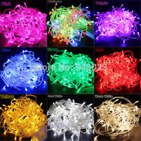 Hot Sale 100 LED 10M String Light Christmas/Wedding/Party Decoration Lights Lighting AC 110V 220V , Waterproof , 9 Colors