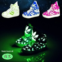 2013 Hot! Boys and girls Fluorescence luminous shoes, children's fashion casual shoes, children's shoes, size :21-37