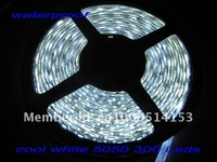 5m/lot 5m 300LED IP65 waterproof 12V SMD 5050 flexible light cold white/warm white/red/blue/green/yellow/RGB LED strip,60LED/ m