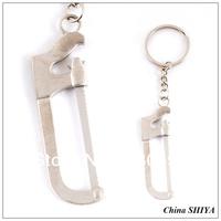 Wholesale Metal Tools Keychain(12pcs/lot)mini Imitate Saw Keychain Keyrings Wholesale