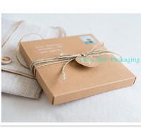 Hot 15.5 x 15.5cm Brown Kraft 2PC Party Invitation Boxes (JCO-00Z6)