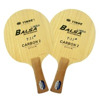 Free Shipping, Yinhe / Milky way / Galaxy T-11 + ( T 11+, T11+ ), 5 ( Wooden ) + 2 ( Carbon ) OFFENSIVE Table Tennis Blade