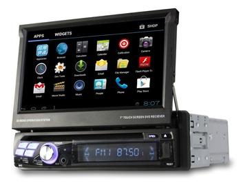 Android 4.0 Single 1 Din Car DVD GPS player with bluetooth 3G WiFi TV Car PC automotivo vehicle gps auto radio usb