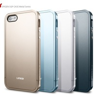 1pcs/lot Newest SPIGEN SGP Linear Metal Color EX Slim Linear Case Cover For Apple iPhone 5 5G 5S