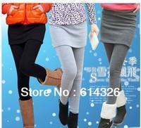 New Fashion Women's Casual Warm Pants +Skirt 2013 Winter Plus Size 2XL 3XL 4XL Pantskirt Women Clothing Free Shipping #DH1046