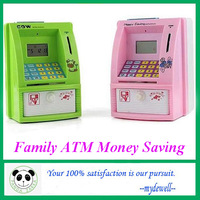 2013 Hot sale brand new Mutifunctional money save box,ATM system bank, piggy bank,money pot, Free shipping