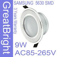 4pcs/lot 9W led recessed downlight lamp dimmable 110V  220V 240V AC85-265V 3years warranty   :TDB09