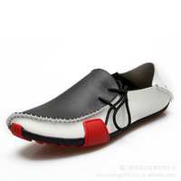 Men leather shoes Mens Casual Shoes Genuine Leather Driving Moccasins Slip brown white gray EUR SIZE 39 40 41 42 43 44 45 46 47