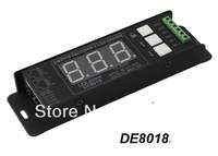 Economic Free shipping DMX512 Decoder,dmx controller led rgb controller DC12-24V signal input  432W 6A*3channel 5000HZ  DE8018
