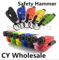 Car safety hammer mini hammer /window/break safety lifesaving hammer keychain 3 in 1 life-saving hammer