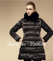2013  High quality New Women's  winter thick down jacket cotton warm parkas black coat  women