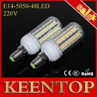 Brand Quality High lights Living Room Use 220V LED Corn Pendant Light E14 Wall Lamps 12W 5050 SMD 48 Leds Bulb Spotlight 1Pcs