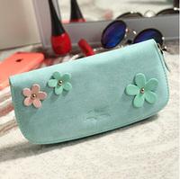 2015 Korean Portefeuille Femme Women Purses Famous Brand Long porte feuille PU Leather Wallets cartera hombre