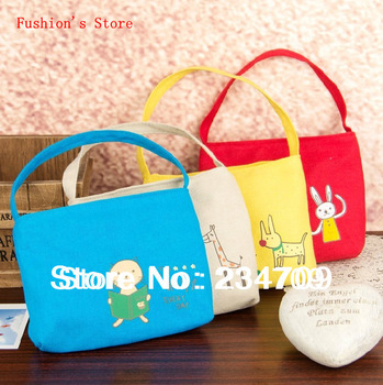 Free shipping,hot!Han edition cute animals bags,canvas handbags,women messenger bags,cosmetic bags,makeup case/bag,1 pcs/lot