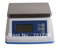 Free Shipping  2014 NEW waterproof  weighing and counting scale 15kg/2g
