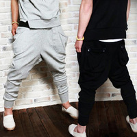 Men's Harem Pant Hip-hop Baggy Casual Stylish Pocket Sports Trousers Drop shipping 18285