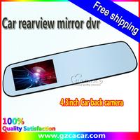 2013 newnest 4.3inch Double/dual lens car rearview mirror dvr
