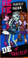 Free Shipping 2013 New Original Monster High Towel Kids Bath Towel Children Beach Towel 4 Styles Fashion Girls Towels
