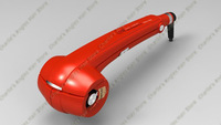 2013 NEW Pro Perfect Curl #red BAB 2665U titanium hair curler heat-styling tools hair roller+EU, AU, US, UK outlet free shipping