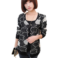 2013 Autumn New Style Cardigan Sweater for Women Fashion Free Size Free Shipping
