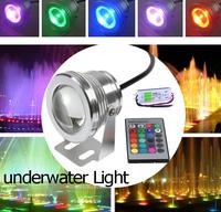 10W 12V 16 Colors RGB LED Underwater Light Pool Light Piscina Aquarium Fountain Light LED Underwater Lamp With 24keys Remote