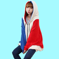 Casual Mixed Color Hoodies Sweatshirts Plus Size Tthickening Cardigan Free Shipping