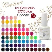 New 24pcs Crisnail UV Gel Nail Polish 168 Colors 15ml 0.5oz (You Choose 24 Colors) Free Shipping