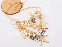 Free Shipping The latest design bold multilayer conch shells on the beach short women jewelry necklace charm fashion temptation