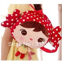 2013 New! Free shipping 30x25cm plush girls bag,   children school backpack,lovely birthday and Christmas gift for little girls
