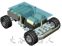 DAGU basic car kit mr.basic, 4WD Electronic Design Contest platform, monthly sales of 600 accessories