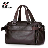 New 2014 Fashion genuine leather men handbags business casual one shoulder bags brand man luggage large capacity men travel bags