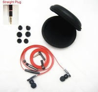 Stereo In ear Earphone with Mic Headset with Microphone DJ Headphone High Quality in Black Carry Case Free Shipping