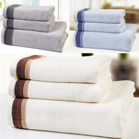 700g/3PCS/set one bath towel (70*140 cm) and two face towels( 34*77cm)  Large Soft Brand  Bamboo Fiber Face Bath Towel Set