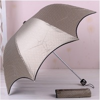 anti-uv structurein moonlight dot color plastic coating sun protectionfolding umbrella black-matrix