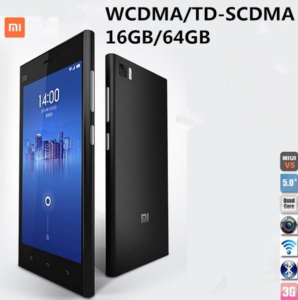 Мобильный телефон Xiaomi 3 wcdma/gsm/td/scdma 2/16/64 5.0 IPS мобильный телефон huawei 3 x pro g750 2 8 5 5 ips mtk6592 13 0mp wcdma